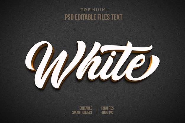 Biały czarny efekt tekstowy 3d 3d szablon efektu stylu białego tekstu