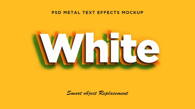 Biały efekt stylu tekstu 3d