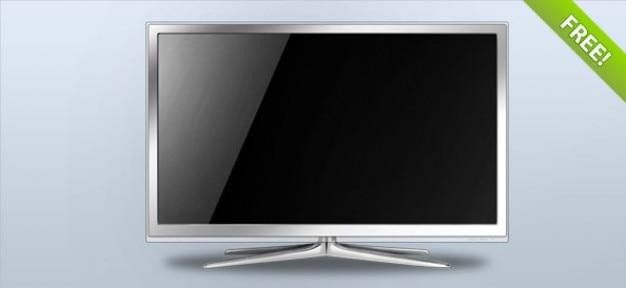 Biały lcd tv - warstwowe psd
