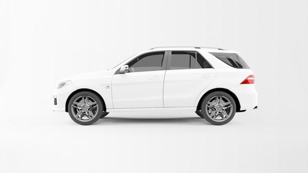Biały samochód drogowy