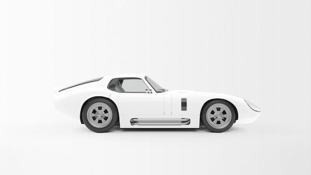 Biały samochód sportowy