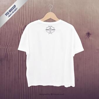 Biały t-shirt makieta