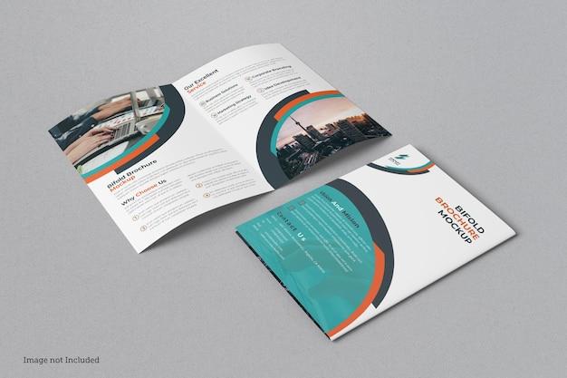 Bifold broszura makieta projekt na białym tle