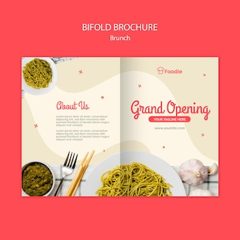 Bifold broszura szablon dla restauracji