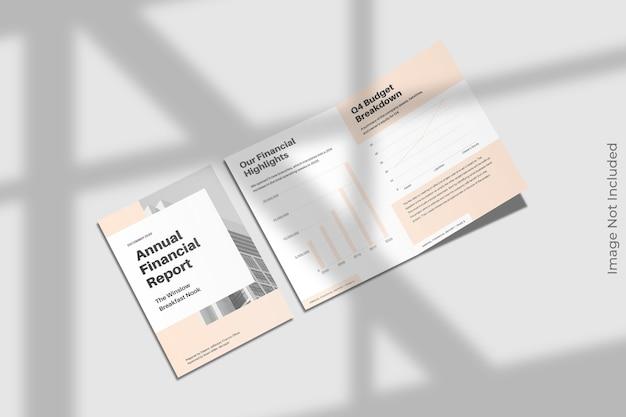 Bifold makieta broszury z cieniem