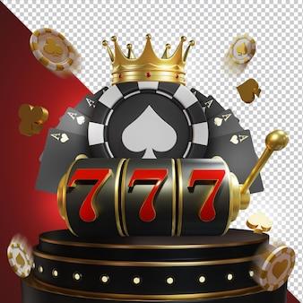 Big win jackpot casino kompozyt 3d warstwa izolowana