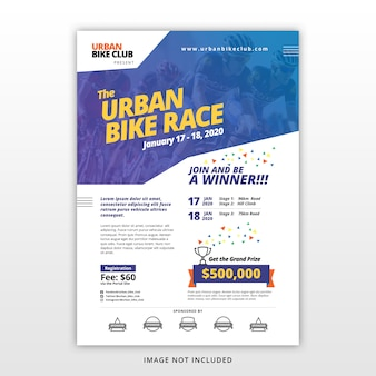Bike race flyer