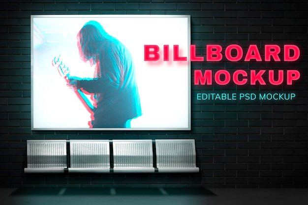 Billboard makieta psd