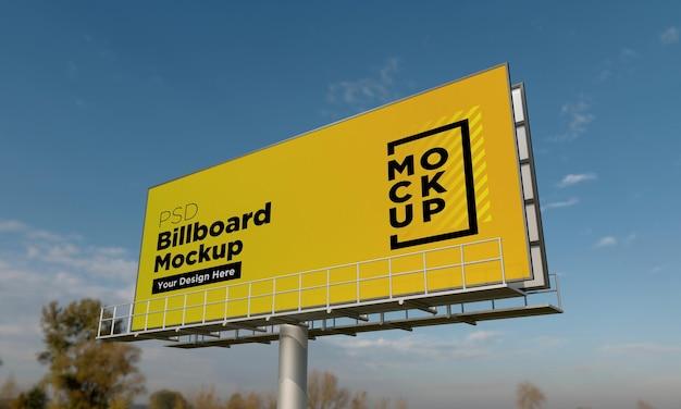 Billboard sign hoding mockup design