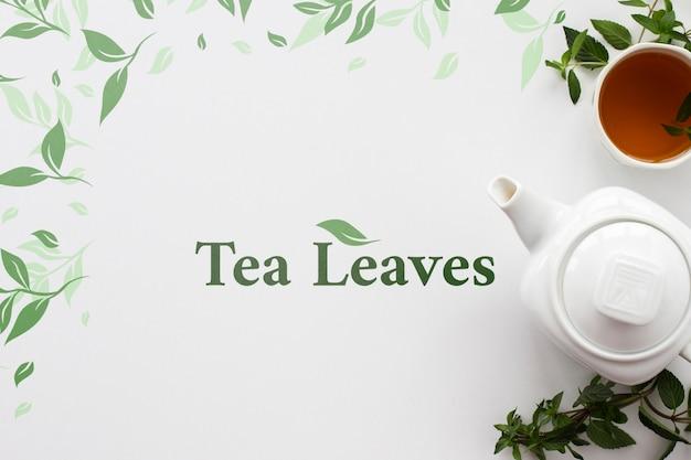 Biurowy dzbanek do herbaty z makietą