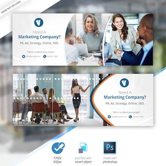 Biznes marketing facebook sprzedaż oś czasu cover banner