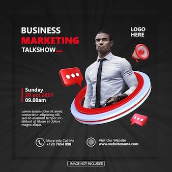 Biznes marketing szablon banera społecznościowego premium psd