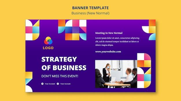 Biznes nowy normalny styl banera