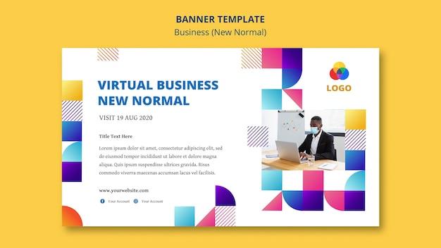 Biznes nowy normalny szablon transparent