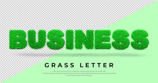 Biznes Z 3d Trawą Premium Psd