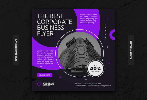 Biznesowa historia na instagramie i korporacyjny szablon postu w mediach społecznościowych z marketingu cyfrowego