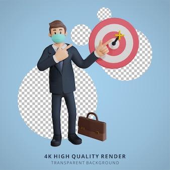 Biznesowa ilustracja postaci renderowania 3d