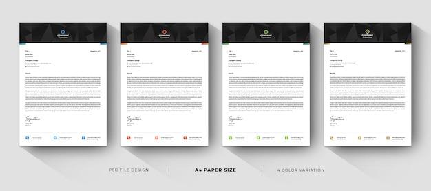 Biznesowy papier firmowy profesjonalne nowoczesne szablony