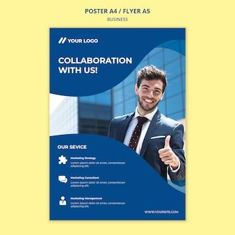 Biznesowy plakat / szablon ulotki