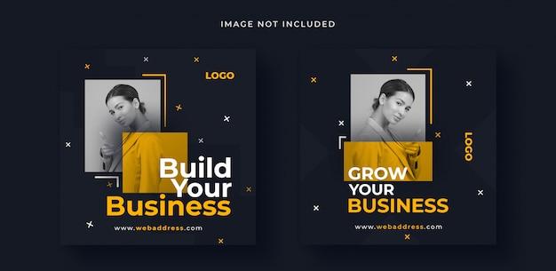 Biznesowy post w mediach społecznościowych lub banner