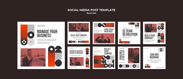 Biznesowy post w mediach społecznościowych