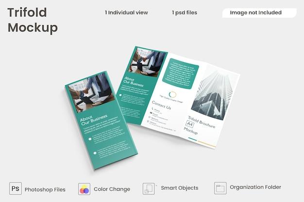 Biznesowy projekt broszury trójdzielnej premium psd