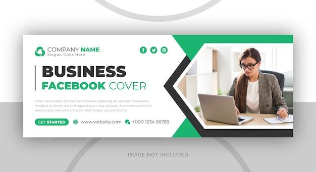 Biznesowy szablon banera okładki na facebooku w mediach społecznościowych