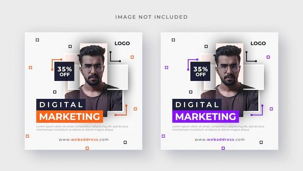 Biznesowych mediów społecznościowych kwadratowych banner post