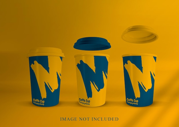 Bliska makieta filiżanki kawy