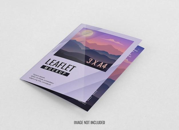 Bliska projekt makiety broszury potrójnej