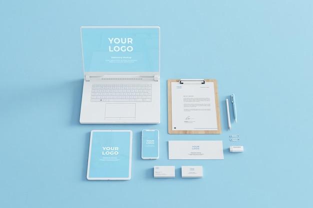 Blue stationery mockup business company