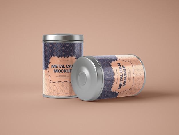 Błyszcząca metalowa makieta puszki