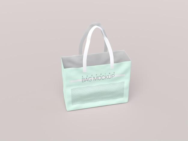 Błyszcząca realistyczna makieta torby na zakupy
