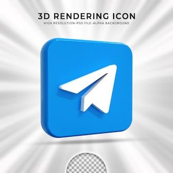 Błyszczące logo telegramu i ikony mediów społecznościowych