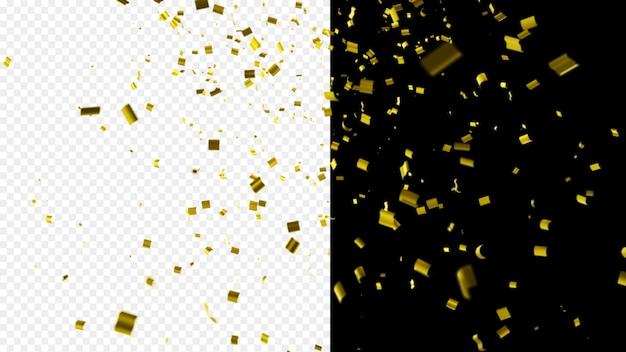 Błyszczące złote konfetti