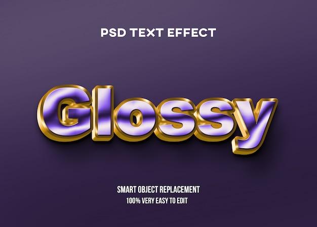 Błyszczący fioletowy i złoty efekt tekstowy