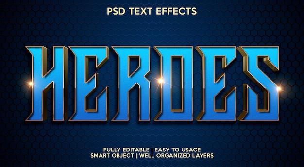 Bohaterowie efekt tekstowy