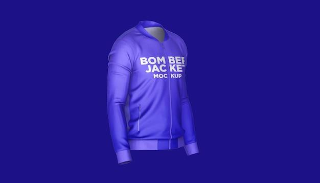 Bomber jacket widok z boku makieta