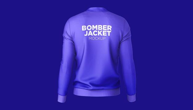 Bomber jacket widok z tyłu makieta