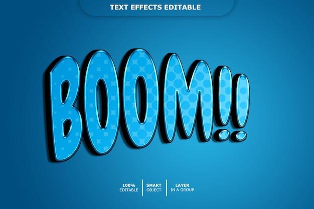 Boom 3d efekt tekstowy edytowalny