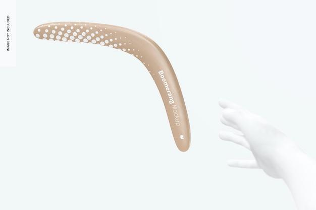 Boomerang z makietą dłoni