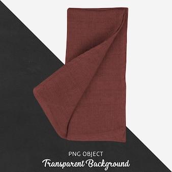 Bordowy czerwony porcji tkaniny na przezroczystym tle