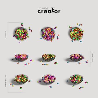 Bowl of kręgle różnorodność kątów twórca sceny halloween