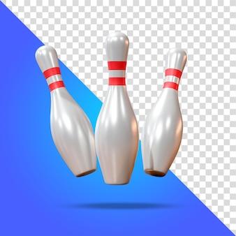 Bowling pins skład renderowania 3d