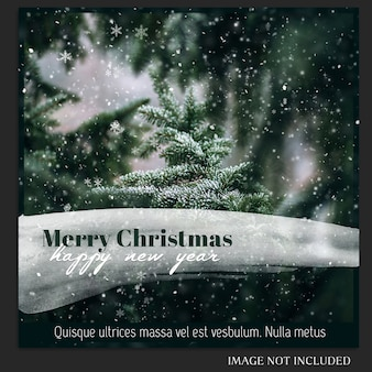 Boże narodzenie i szczęśliwego nowego roku 2019 makieta zdjęcie i szablon postu instagram