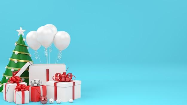 Boże narodzenie komercyjne makieta zakupy koncepcja sprzedaży