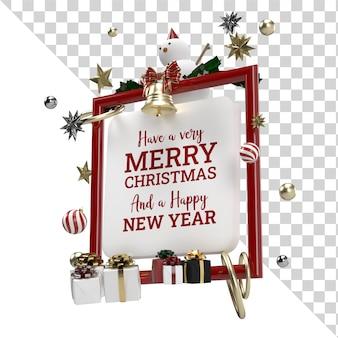 Boże Narodzenie Obchody Latającego Obiektu Renderowania Reklamy Na Białym Tle Premium Psd