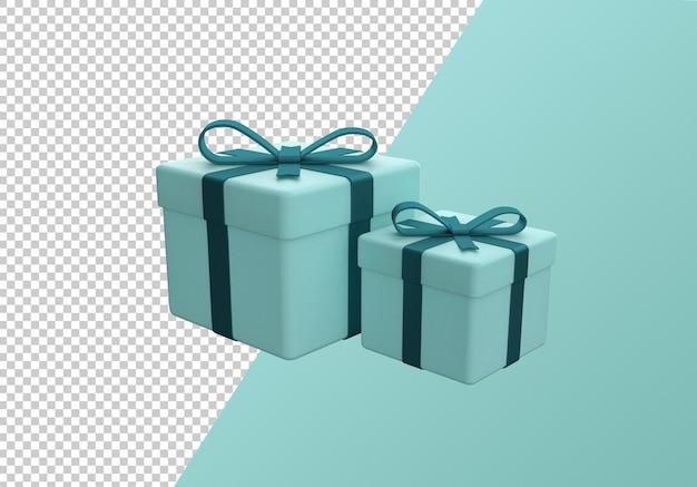 Boże narodzenie pudełko kreskówka na białym tle