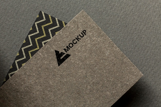 Branding biznesowy na aranżacji makiety karty