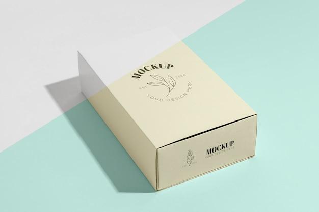 Branding makiety pudełek pod dużym kątem